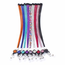 New Fashion Bling Rhinestones Leather Neck Strap Lanyard Retractable Badge Reel with Breakaway Safety Clasp ? partir de fabricateur