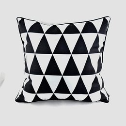 Wholesale Cm Hospital - Wholesale- Pillow Case 45*45 cm Decorative Designer Black White Abstract Geometric Throw Pillowcase Pillow Cover for Couch