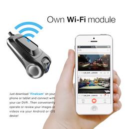 obiettivo nero doppio dell'automobile Sconti Newcar Car DVR Camera Dashcam Full HD 1080P Registratore video Registratore G-sensor Night Vision Dash Cam WiFi