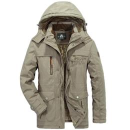 Wholesale Snow Jackets For Men - Asia Size L-6XL Faux Fur Lining New Men's Long Cotton Thick Winter Snow Warm Jacket Coat,Faux Fur Parkas For Men,3 Colors,8186