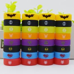 2019 goon lp goutte à goutte Anneau de silicone de bande de vape large alésage coloré 26mm avec Deadpool Wolverine Logo de fer de lanterne verte pour le réservoir de tfv12 prince tfv8 grand bébé