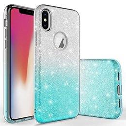 Розовые телефоны lg онлайн-Bling блеск розовый для iPhone X 5s 6s 7s 8G плюс LG Aristo 2 Мягкий TPUCover жесткий ПК гибридный защитный чехол сотового телефона