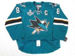 Wholesale custom hockey jerseys cheap - Cheap custom PAVELSKI SAN JOSE SHARKS HOME 2016 STANLEY CUP FINAL Stitched JERSEY