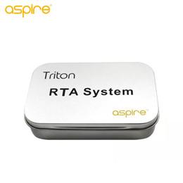 Atomizador de triton on-line-GRANDES VENDAS !! Aspirar Triton RTA Sistema com DIY Ferramentas de Resistência Ajustável 0.3ohm-0.9ohm Triton Atomizador Bobinas Cabeça Kit 100% Autêntico