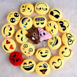 sacs d'émotion Promotion Mobile Bag Dangle QQ Emoji Pendentif Porte-clés Emoji Smiley Petit pendentif Emotion QQ Expression Peluche Poupée jouet 6cm taille jouets 405