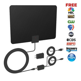 Wholesale Amplifier Cables - HDTV Antenna,TV Antenna indoor,Indoor Amplified TV Antenna 70 Miles Range with Detachable Amplifier Signal Booster and 16 Feet Coaxial Cable