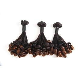 2019 pacotes de cabelo funmi Brasileiro Ombre Rose Funmi Cabelo Marrom Bundles 3 peças / lote Ombre Funmi Extensões de Cabelo T1B / 30 Tece Cor Natural desconto pacotes de cabelo funmi