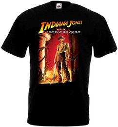jones t shirts Coupons - Indiana Jones and the temple of doom T-shirt black Movie Poster all sizes S-5XL Classic Quality High Round Style t-shirt