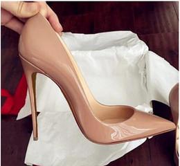 chaussures wedge mary jane Promotion Top qualité 2017 femmes chaussures rouge bas talons sexy bout pointu rouge semelle 8 cm 10 cm 12 cm pompes viennent avec logo sacs à poussière chaussures de mariage