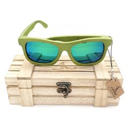 Lentes de cores naturais on-line-Bobo bird 4 lente da cor verde natural bamaboo óculos polarizados óculos de sol para a mulher moda eyewear vestuário 2017 oculos