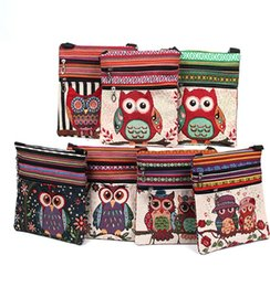 Wholesale Embroidered Fashion Handbags Tote Bags - New fashion women shoulder bags embroidered owl pattern postman package tote handbags meaaenger bag high quality