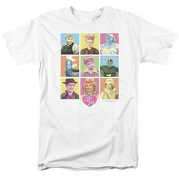 Marca licenciada on-line-Eu Amo Lucy Show Lucille Bola TÃO MUITAS CARAS Licenciado Adulto T-Shirt Todos Os Tamanhos 2018 Marca de Manga Curta Camiseta Top Tees
