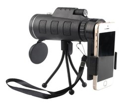 Wholesale Sports Car Mobile Phones - 2018 Outdoor sports field mini 40X60 mobile phone photo light night vision single tube high magnification green film telescope.