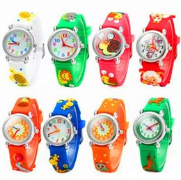 Wholesale little girls toys - 3D Cartoon Children Watch Kids Students Cute Design Silicone Quartz Analog Wristwatches Teacher Little Girl Boy Gift toy Watches