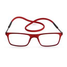 Argentina Diseñador de la marca Gafas de lectura magnéticas Hombres Mujeres Gafas de lectura imán plegables Gafas magnéticas de cuello halter Suministro