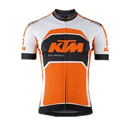 Свободные трикотажные изделия задействуя онлайн-Команда KTM Велоспорт с короткими рукавами Джерси 2019 100% полиэстер Quick-Dry Bike Спортивная одежда Roupa Ciclismo бесплатная доставка U60104