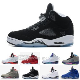 Wholesale Mark Pu Leather - 2017 air 5 V men Basketball Shoes Olympic OG metallic Gold Tongue Black Metallic Space jam Fire Red Mark Ballas Sport Sneakers