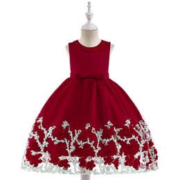 Argentina 2019 nueva colección de verano El sentimiento estéreo 3d Floral princesa vestido de gasa tela bordado algodón forro de color rojo supplier dress fabrics line Suministro