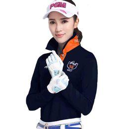 6b98ea8a05e Pgm golf clothes women s long-sleeve T-shirt autumn and winter sports  uniforms women s top