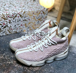 Wholesale Long Sneakers - With Original Box KITH x James 15 Rose Pink 15s Mens Basketball Shoes Long Live the K Sneakers Boots US 7-12 Free Shipping
