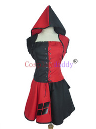 Wholesale batman costume game - Batman Arkham Harley Quinn Costume Dress Adult Woman's Halloween Party Cosplay Costume
