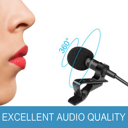 Wholesale microphone collar - SOVO Collar Microphones Phone Microphone 3.5 mm Jack Hands-free Lapel Mini Wired Condenser Karaoke OK Mic for iPhone Samsung Mic