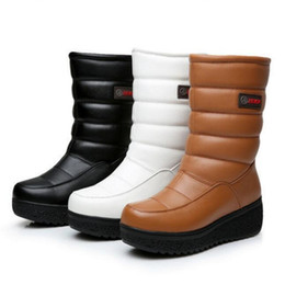 white wedge snow boots 2019 - 2018 New Fashion Winter Boots Women Shoes  Snow Boots Non 222117c22c10