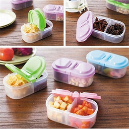 Wholesale Lunch Storage - New Fashion Portable Plastic Protector Case Container Trip Outdoor Lunch Fruit Food Dinnerware Sets Storage Holder Trip Outdoor Box