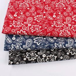 Jardas de tecido vintage on-line-Clássico do vintage 100% Algodão Qualiy Paisley Costura de Tecido Patchwork DIY Bandanas 148 cm de largura vendido por quintal