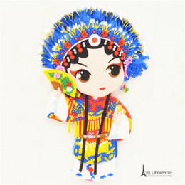 Сувенирные магниты онлайн-Free shipping China Peking Opera Traditonal Oriental Fridge Magnets Rubber Tourist Souvenir home decoration party supply gifts