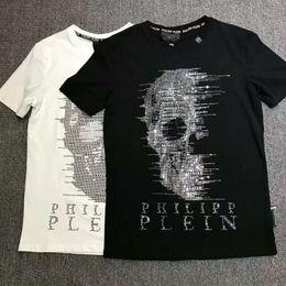 2019 bandana de chien noir KK Hommes De Luxe T-shirt De Mode Hommes Ras Du Cou À Manches Courtes T Chemises Marque D'été Coton Tops T-shirts Crânes Imprimer T-Shirt Medusa Casual Slim T-shirts