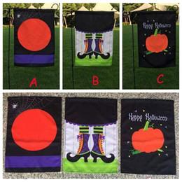 7c6255d947 3 Stili 30 * 45 cm Halloween Garden Flags Zucca Fantasma Party Home Decor  Outdoor Appeso Bandiere Del Giardino Decorazioni di Halloween CCA10032 100  pz ...