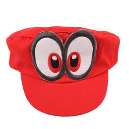 Супер марио бейсболки онлайн-Супер Марио шляпа Красная Одиссея 2017New Марио крышка носимых бейсболки унисекс регулируемый хлопок костюм Хэллоуин оборудование