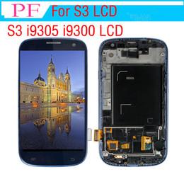 2019 analoge bar i9305 lcd für Samsung-Galaxie S3 i9300 LCD-Anzeigen-Touch Screen Analog-Digital wandler Vollversammlungsersatz LCD DHL geben Verschiffen frei günstig analoge bar