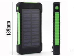 Canada Banque d'alimentation solaire double banque d'alimentation USB avec lumière LED 20000mAh powerbank étanche chargeur externe portable pour iphone7 Offre