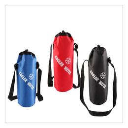 2019 bolsas de golf al por mayor Venta al por mayor Universal con cordón de la botella de agua bolsa de gran capacidad aislado bolsa de refrigerador para viajar, acampar, senderismo de alta calidad