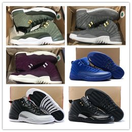 red high shoes Promo Codes - Wholesale 12 Class of 2003 Bordeaux Basketball Shoes Men Sport Shoe 12s TAXI Playoff BLAck Suede Sports Trainers High Quality Sneakers