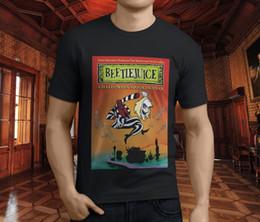 Wholesale horror shirts - New Popular Beetlejuice American Classic Horror Movie Men's Black T-Shirt S-3XL