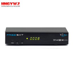 Wholesale Wifi Hd Satellite Receivers - FREE SAT V7 Max wifi hd receptor Satellite Receiver 1080P FULL HD DVB-S2 Decoder Support YouTube free sat v7 max Powervu