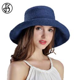 FS 2017 Summer Straw Hats For Women Wide Brim Floppy Beach Sun Hat Viseras  Mujer Ala Ancha Fashion Foldable Visor Sombreros ac57209f7c69
