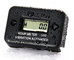 Contadores de tiempo online-Motosierra tractor a prueba de agua Wireless Digital LCD Motor de gasolina Vibración activada contador de horas temporizador contador de tiempo MV58004
