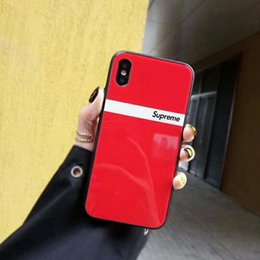 Wholesale Trends For Phone Cases - Luxury brand trend English alphabet tempered glass mobile phone case for iphone x 7 7plus 8 8plus hard back cover for iPhone 6 6S 6plus