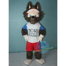 Wholesale Mascot Anime - Wolf Mascot costume free shipping Halloween Birthday Wedding mascot costume