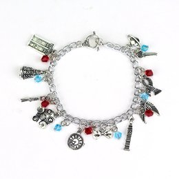 Bracelet des merveilles en Ligne-Bracelet de film harry bracelet Death Hallows chapeau bracelets de potter couronne Femmes Filles Fans Star Trek Alice au pays des merveilles