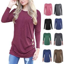 T Shirt Kadın Tshirt Kadınlar için O Boyun Uzun Kollu T gömlek artı Boyutu XXL Gevşek T-Shirt 11 Renkler Ucuz En Tees supplier cheap women xxl shirts nereden ucuz kadın xxl gömlek tedarikçiler