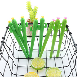 Penne cactus online-1Pcs New Cute Creative kawaii Cactus Gel Pen Succulent Plants Stationery Kids Gift School Stationery Pen