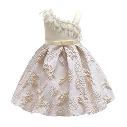 Kind mädchen gewebt kleider online-Vieeoease Mädchen Kleid Weihnachten Kinder Kleidung 2018 Herbst Mode Sleeveless Jacquard Weben Prinzessin Party Kleid EE-1201