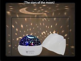 Wholesale led panda lamp - LED panda Projector Super quiet rotation dream projection lamp Romantic star starry sky light night light Children small night light