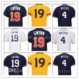 Wholesale Tony Short - Mens 4 Wil Meyers 19 Tony Gwynn Jersey 4 Wil Meyers 19 Tony Gwynn Baseball Jerseys Embroidery Logos 100% Stitched