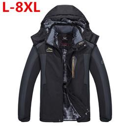 Wholesale Men Snow Coats - 9XL 8XL Winter Thick Padded Parka Men Jacket Coat Russian Wadded Long Hooded Casual Warm Snow Windbreaker Overcoat Male Jackets